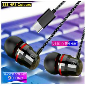 Huawei Type C USB-C Earphones Stereo Headphones For P40 Mate 20 P30 Pro UK Fast