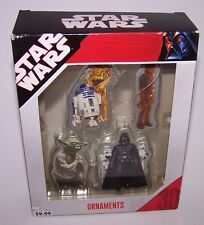 Star Wars Christmas Ornaments 2007 NIB