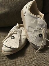 Vintage 1980'S Etonic White Golf Shoes 8 1/2 M #8191 NEW in Box