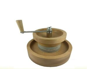 Hand grain stone mill flour mill granite wheat seed spices grinder Video