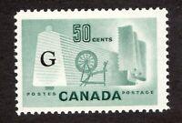 #O38 - Canada - 1953 - 50c - G  - Industry - MNH - F -  superfleas - cv$9