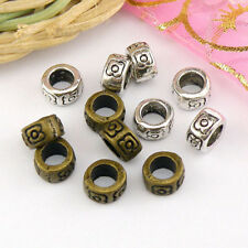 20Pcs Tibetan Silver,Antiqued Bronze Flower Barrel Spacer Beads 4x7mm M1659