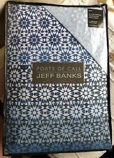 Jeff Banks Ports of Call Mosaic Blue King Size Duvet Set- Cover with two pillows
