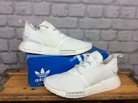 ADIDAS MENS UK 9 EU 43 1/3 WHITE NMD JAPAN BOOST R1 PRIMEKNIT TRAINERS