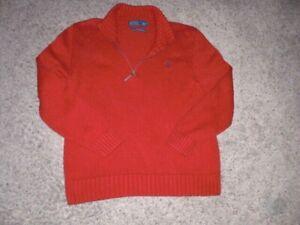 POLO Ralph Lauren red 1/4 zip neck cotton pullover Sweater men's Large