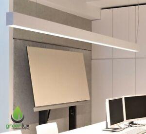 36W LED Linear Pendant Light 1200*50*80mm Modern with Hanging Kit- WHITE Housing