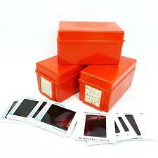 Agfacolor orange plastic film box with Slides Some Disney Pana Vue Bulk Vintage