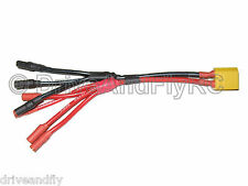 XT60 1 Male to 4 Female 3.5mm Parallel Quadcopter Power Distribution Cable