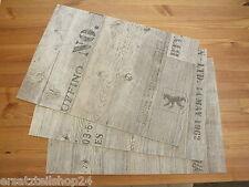 ** Holzdekor Platzset Tischset Antik-grau, abwaschbar rutschfest PVC#10
