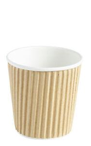 1000 x 4oz Brown Paper Espresso / Cappuccino Hot Drink Insulated Cups
