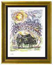 """Pablo Picasso Signed/Hand-Numbered Ltd Ed """"Bull in Arena"""" Litho Print (unframed)"""