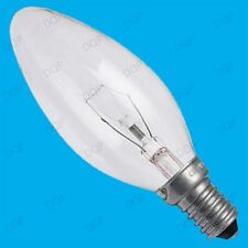 3x 40W CLEAR CANDLE FILAMENT LIGHT BULBS SES SMALL SCREW  E14 CHANDELIER LAMPS
