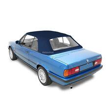 BMW 3-Series E30 Convertible Soft Top 1986-1993 & Plastic Window Blue Twill