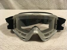 7462bc5c178 Vintage Oakley Clear Lens Wrap Around Snowboard Ski   Motorcycle Goggles