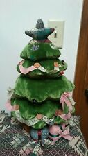 "Gund Holiday Countdown To Christmas Rotating Music Light Plush Stuffed 17""Tree"