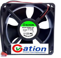 For 24V 6.7W 12X12X3.8 Plastic Cooling Fan SUNON KD2412PMS1-6A