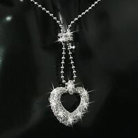 Damen Halskette Herz Anhänger Zirkonia 750er Gold 18Karat vergoldet silber A1040