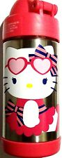 Thermos Hello Kitty! Pink Heart Glasses Cupcake Funtainer Stainless Steel Bottle
