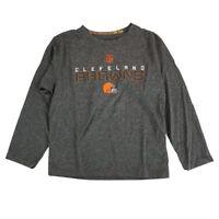 """Cleveland Browns Outerstuff NFL Boys Grey """"Maximal"""" Dri-Tek Long Sleeve T-Shirt"""