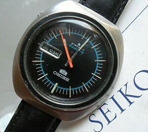 Sharp Vintage 1977 S/S Men's Seiko 5 Sports 21 Jewel Automatic Watch 6319-8070