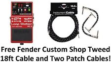 New Boss RC-3 Loop Station Guitar Pedal! FREE Fender Custom Shop Cables!