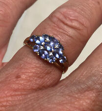 Lovely 9ct Gold Tanzanite And Diamond Ring