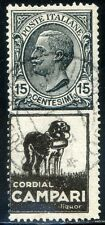 Regno d'Italia 1924 Pubblicitari - Campari n. 3b - usato - varietà (m2697)