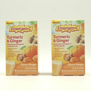 Emergen-C Turmeric & Ginger Daily Immune Support and Botanicals 36Pkts Exp 3/22
