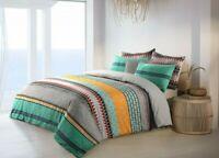 Cotton Reversible Doona Duvet Quilt Cover Queen size Multicolored