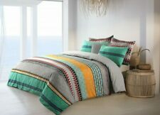 Cotton Reversible Duvet Quilt Cover King size With Pillowcases Set Multicolored