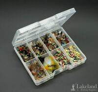 Tackle Fly Box + Assorted Mixture of Trout Flies Fly Fishing - Starter Kit - T1
