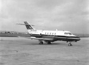 CAFU, HS.125-3B/RA, G-AVDX at Luqa, Malta, 29 Oct 71; original large negative