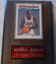 MICHAEL JORDAN 1992 ORIGINAL BASKETBALL HOOPS CARD PLAQUE