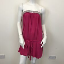 Atmosphere Ladies Pink Silver Sequin Bandeau Boobtube Short Dress UK Size 8