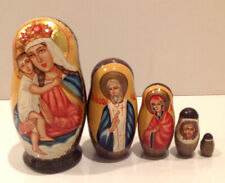 D Russian Souvenirs Nesting Doll Eternal Bloom Matryoshka Religious Gifts 3 PC