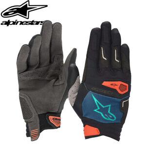 Alpinestars Drop Pro MTB Gloves - Poseidon Blue / Energy Orange