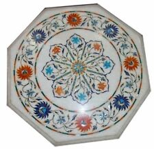 Marble Handmade Semi Precious Stone Inlay Floral Craft Work Table Top