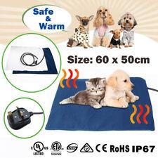 60x50cm Pet Heat Pad Electric Heating Heater Mat Blanket Dog Bunny Cat Bed Large