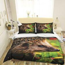 3D Lovely Hedgehog R658 Animal Bed Pillowcases Quilt Duvet Cover Queen Kay