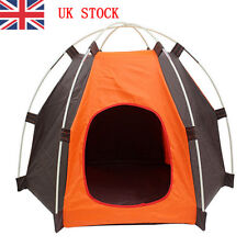 UK Foldable Small Pet Dog Cat Bed House Kennel Puppy Waterproof Outdoor Tent