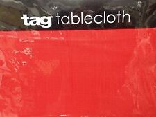 "TAG MARSEILLE TABLECLOTH-60"" x 84"" -RED- NIP"