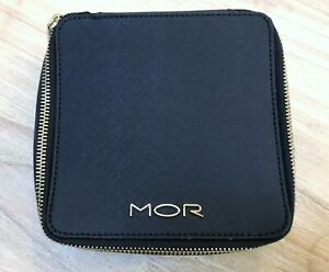 New MOR TRAVEL JEWELLERY CASE zippered textured VEGAN Leather Jewelry Protector