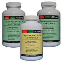 EZorb Calcium 2 Powder 1 Caps Combo, Absorbs 92% Bone Spurs Osteoporosis Save 7%