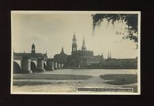 Germany DRESDEN Aldstadt an der Friedr-aug-Brucke c1920/30s? RP PPC