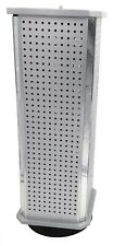 Aluminum 4 Sided Display Spinner Accessory Jewelry Countertop Rack w/ 48 Hooks