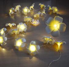 20LED SOLAR POWER FRANGIPANI FLOWER LIGHT STRING LEAD WIRE 2M FAIRY LIGHT NEW