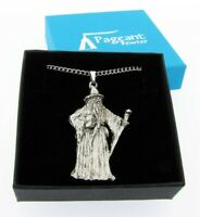 Wizard Silver Pewter Pendant On A Chain