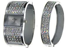 Mark Naimer Girls Chrome Finish Watch Bracelet Gift Set - Brand New