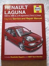 RENAULT LAGUNA 1994 ~ 1996 3252 PETROL & DIESEL HAYNES SERVICE & REPAIR MANUAL