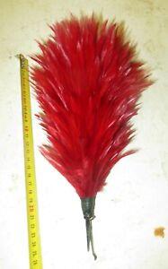 Plumet de couleur  rouge pour casque de Cuirassier, vers 1880-1900 environ.Lot 4